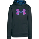 Under Armour Youth Armour Fleece Storm Big Logo Hoody (Black)