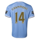 Manchester City 13/14 CHAMPIONS Home Soccer Jersey