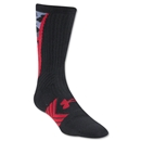 Under Armour Undeniable Camo Crew Sock (Blk/Red)