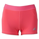 adidas Women's TechFit 3 Boy Short (Red/Silver)
