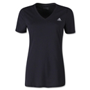 adidas Women's Ultimate V-Neck T-Shirt (Black)