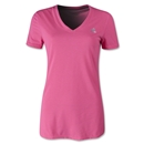 adidas Women's Ultimate V-Neck T-Shirt (Neon Pink)