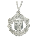 Manchester United Large Cut-Out Crest Pendant and Chain