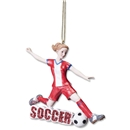 Girl Soccer Ornament