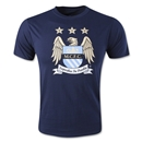 Manchester City Crest Navy T-Shirt