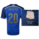 Argentina 2014 AGUERO 20 World Cup Final Commemorative Soccer Jersey