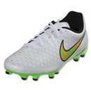 Nike Junior Magista Onda FG (White/Posion Green/Total Orange)