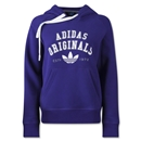 adidas Originals Women's Logo Essential Hoody (Purple)