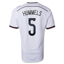 Germany 14/15 HUMMELS Home Soccer Jersey (4 Stars)