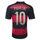 Germany 14/15 PODOLSKI Away Soccer Jersey (4 Stars)