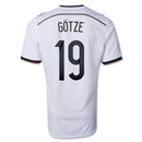 Germany 2014 GOTZE Youth Home Soccer Jersey (4 Stars)