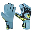 uhlsport Eliminator Supersoft Glove (Ice Blue/Black/Fluo Yellow)