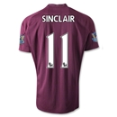 Manchester City 12/13 SINCLAIR Away Soccer Jersey