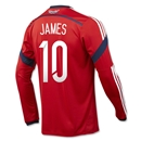 Colombia 2014 JAMES LS Away Soccer Jersey