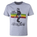 Zion Rootswear Bob Marley Youth Soccer T-Shirt (Gray)
