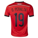 Mexico 2014 O. PERALTA Youth Away Soccer Jersey