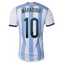 Argentina 2014 MARADONA Authentic Home Soccer Jersey