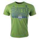 Seattle Sounders 2014 Playoff Outline T-Shirt