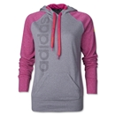 adidas Women's Ultimate Fleece Graphic Pullover (Pink/Sv)