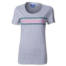adidas Originals Women's Heritage Logo T-Shirt (Gray/Green)