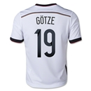 Germany 2014 GOTZE Youth Home Soccer Jersey