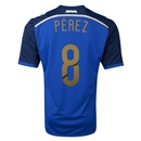 Argentina 2014 PEREZ Away Soccer Jersey
