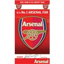 Arsenal No.1 Fan Certificate Card