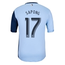 Sporting KC 2013 SAPONG Authentic Primary Soccer Jersey