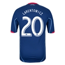 Chicago Fire 2014 LARENTOWICZ Authentic Secondary Soccer Jersey