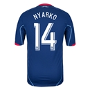 Chicago Fire 2014 NYARKO Authentic Secondary Soccer Jersey