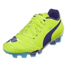 PUMA evoPOWER 4 FG Junior (Fluro Yellow/Prism violet)