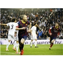 Andres Iniesta Signed Barcelona Photo El Clasico Goal
