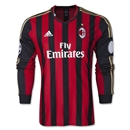 adidas AC Milan Long Sleeve UCL Home Jersey 13/14