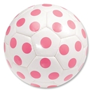 Dot Soccer Ball (White/Pink)