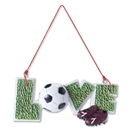 Soccer Love Ornament w/ Ball and Cleats