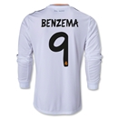Real Madrid 13/14 BENZEMA LS Home Soccer Jersey