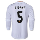 Real Madrid 13/14 ZIDANE LS Home Soccer Jersey