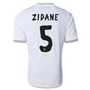 Real Madrid 13/14 ZIDANE UCL Home Soccer Jersey