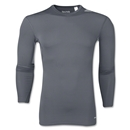 adidas Base TechFit Compression Long Sleeve T-Shirt (Dk Grey)