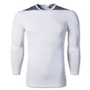 adidas Base TechFit Compression Long Sleeve T-Shirt (White/Gray)