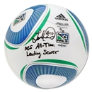 Upper Deck Landon Donovan Autographed and Inscribed MLS All-Time Leading Scorer Official