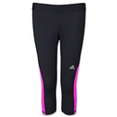 adidas Women's TechFit Capri Tight (Bk/Fl Pi)