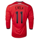 Mexico 2014 C. VELA LS Away Soccer Jersey