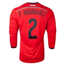 Mexico 2014 F RODRIGUEZ LS Away Soccer Jersey
