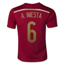 Spain 2014 A. INIESTA Youth Home Soccer Jersey