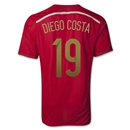 Spain 2014 DIEGO COSTA Authentic Home Soccer Jersey