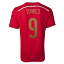 Spain 2014 TORRES Authentic Home Soccer Jersey