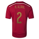 Spain 2014 R. ALBIOL Home Soccer Jersey