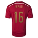 Spain 2014 SERGIO Home Soccer Jersey