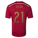 Spain 2014 SILVA Home Soccer Jersey